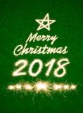 Feliz Navidad 2018 Fotos de archivo libres de regalías
