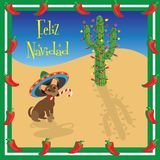 Feliz Navidad Chihuahua royalty free illustration