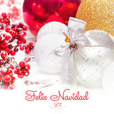 Feliz Navidad. Christmas and New Year background 2017 Royalty Free Stock Images