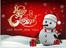 ¡Feliz Navidad! Compañeros de la feliz Navidad Fotografía de archivo