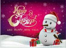 ¡Feliz Navidad! Compañeros de la feliz Navidad Imagen de archivo libre de regalías