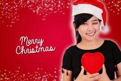 Feliz Navidad con amor Fotografía de archivo