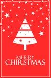 Feliz Navidad con el cartel 6000 x del árbol ejemplo 4000 libre illustration
