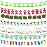 Feliz Navidad con los elementos de las decoraciones Imagenes de archivo