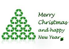 Feliz Navidad - concepto de la ecología Fotografía de archivo libre de regalías