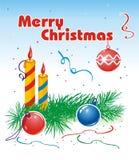 Feliz Navidad congratulatoria Imágenes de archivo libres de regalías