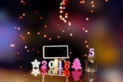 Feliz Navidad creativa Felices Año Nuevo 2016 Foto de archivo libre de regalías
