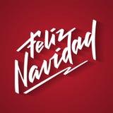 Feliz Navidad - Feliz Navidad de español stock de ilustración