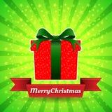 Feliz Navidad de la caja de regalo Imagen de archivo libre de regalías