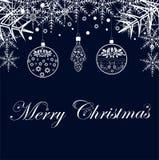Feliz Navidad de la enhorabuena en un fondo festivo ilustración del vector