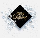 Feliz Navidad de la nieve de la tarjeta libre illustration