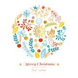 Feliz Navidad de la postal Foto de archivo libre de regalías