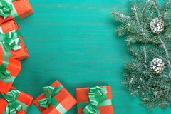 Feliz Navidad de la tarjeta congratulatoria y Año Nuevo Imagenes de archivo
