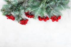 Feliz Navidad de la tarjeta congratulatoria y Año Nuevo Fotografía de archivo