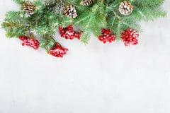 Feliz Navidad de la tarjeta congratulatoria y Año Nuevo Fotos de archivo