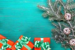 Feliz Navidad de la tarjeta congratulatoria y Año Nuevo Imágenes de archivo libres de regalías