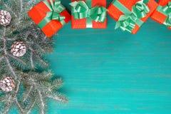 Feliz Navidad de la tarjeta congratulatoria y Año Nuevo Imagen de archivo libre de regalías