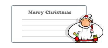 Feliz Navidad de la tarjeta de felicitación Fotografía de archivo