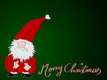 Feliz Navidad de la tarjeta de Navidad Imágenes de archivo libres de regalías