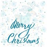 Feliz Navidad de la tarjeta del día de fiesta Foto de archivo