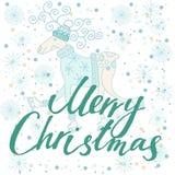 Feliz Navidad de la tarjeta del día de fiesta Fotografía de archivo libre de regalías