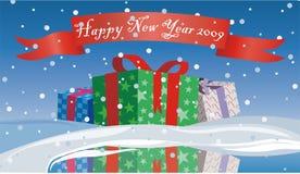 Feliz Navidad de la tarjeta del regalo Foto de archivo libre de regalías