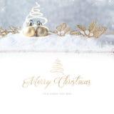 Feliz Navidad Decoración de la Navidad Imágenes de archivo libres de regalías