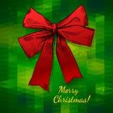 Feliz Navidad del arco Fotos de archivo libres de regalías