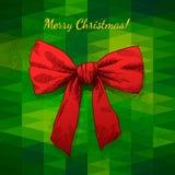 Feliz Navidad del arco Foto de archivo