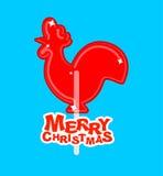 Feliz Navidad del caramelo del pollo Caramelo en el palillo Tradit ruso Imagenes de archivo