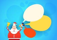 Feliz Navidad del día de fiesta de la Feliz Año Nuevo del espacio de Santa Claus Hold Megaphone Empty Copy Imagenes de archivo