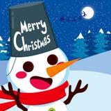 Feliz Navidad del muñeco de nieve feliz libre illustration