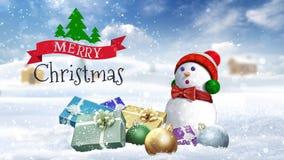 Feliz Navidad del país 4K almacen de metraje de vídeo