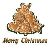 Feliz Navidad del pan de jengibre Imagen de archivo