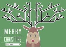 Feliz Navidad del reno Imagen de archivo libre de regalías