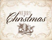 Feliz Navidad del vintage Fotos de archivo