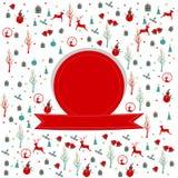 Feliz Navidad, diseño del marco de la Navidad foto de archivo libre de regalías