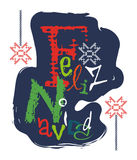 Feliz Navidad e significa il Buon Natale illustrazione vettoriale