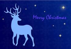 Feliz Navidad - ejemplo con los ciervos y las estrellas ilustración del vector