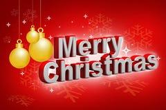 Feliz Navidad elegante y ligera stock de ilustración