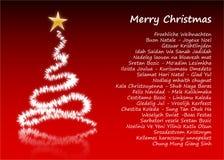 Feliz Navidad en 31 diversos lenguajes Foto de archivo
