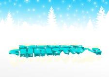 Feliz Navidad en azul Imagenes de archivo
