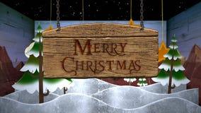 Feliz Navidad en un lazo de la caja 4K almacen de metraje de vídeo