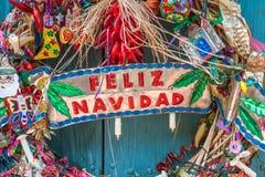 Feliz Navidad est espagnol pour le Joyeux Noël Image libre de droits
