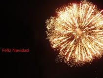 Feliz Navidad glad jul fotografering för bildbyråer