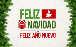 Feliz Navidad Greeting Card Royalty Free Stock Photo