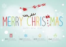 Feliz Navidad Infographic Imágenes de archivo libres de regalías