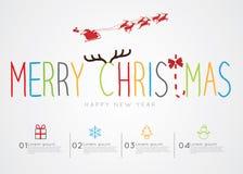 Feliz Navidad Infographic Fotos de archivo libres de regalías