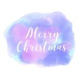 Feliz Navidad Invierno Estilo abstracto de la acuarela del fondo Imágenes de archivo libres de regalías