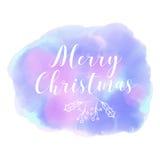 Feliz Navidad Invierno Estilo abstracto de la acuarela del fondo Foto de archivo libre de regalías